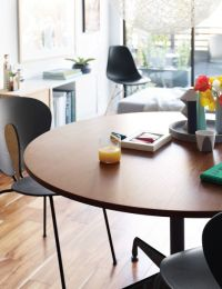 Eames Table with Round Top and Segmented Base - Herman Miller