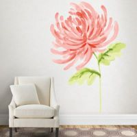 Watercolor Chrysanthemum Wall Decal | Shop Fathead for ...