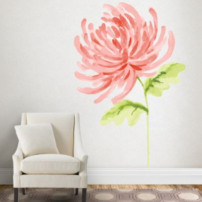 Watercolor Chrysanthemum Wall Decal Shop Fatheadr For
