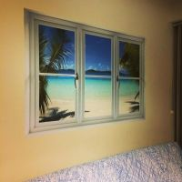 Virgin Islands Beach: Instant Window Wall Decal | Shop ...