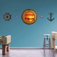 Sunset Sailboat: Porthole Wall Decal   Shop Fathead for ...