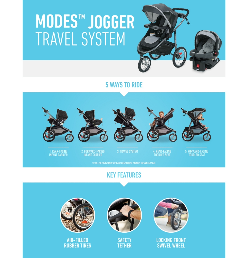 Graco Infant Car Seat Stroller Instructions Modes Jogger Click Connect Travel System
