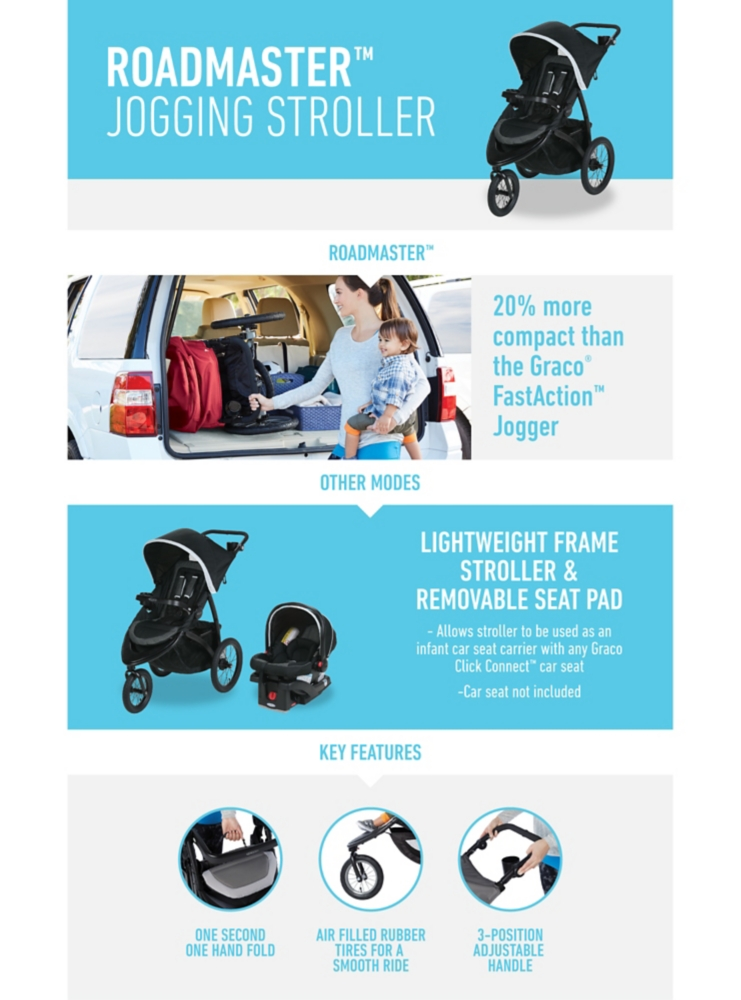 Graco Infant Car Seat Stroller Instructions Roadmaster Jogger Travel System Gracobaby