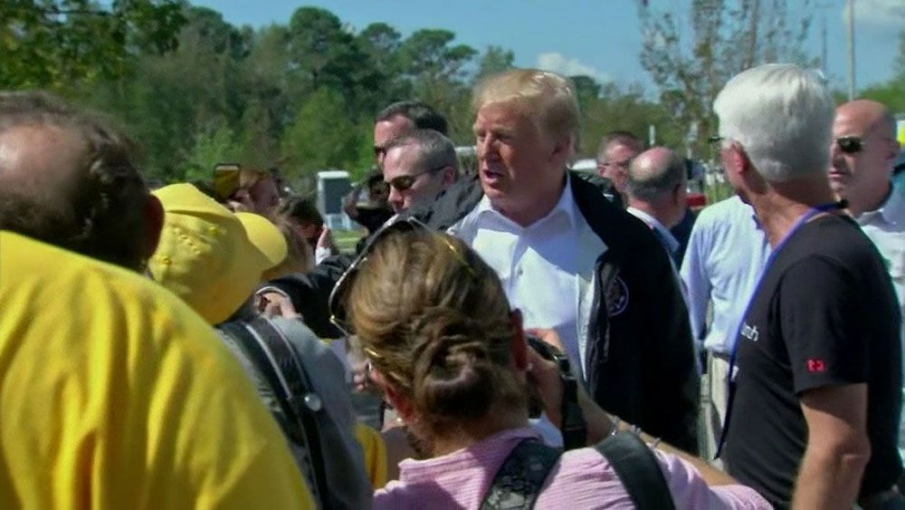 37 Tour President Trump Tours Storm Damage In Carolinas