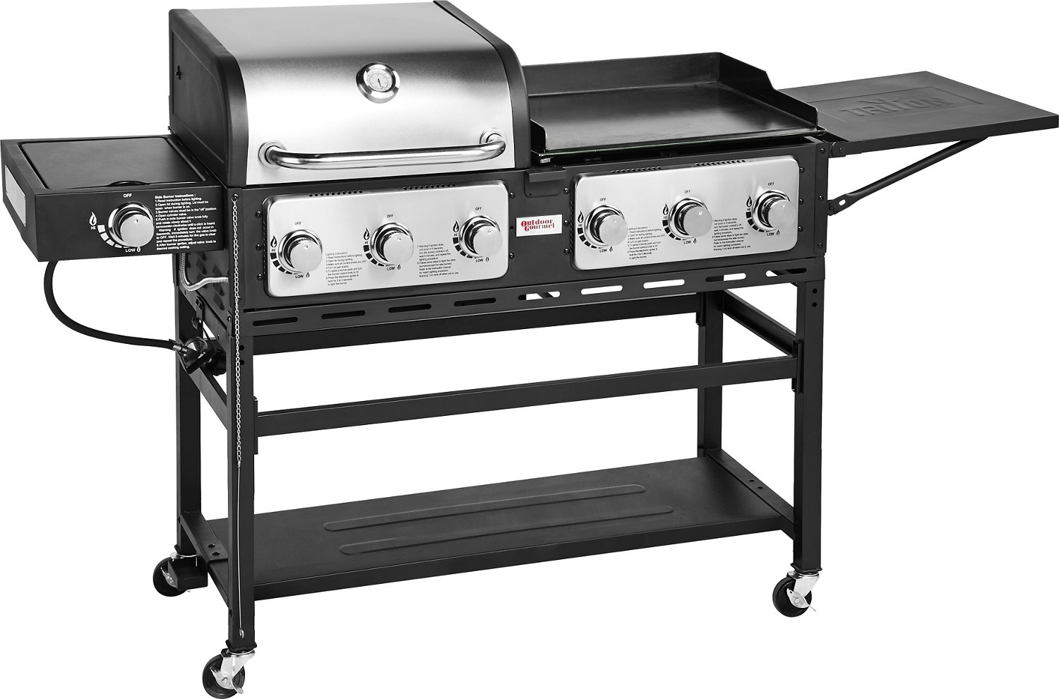 Outdoor Grill Outdoor Gourmet Triton 7 Burner Propane Grill And Griddle Combo