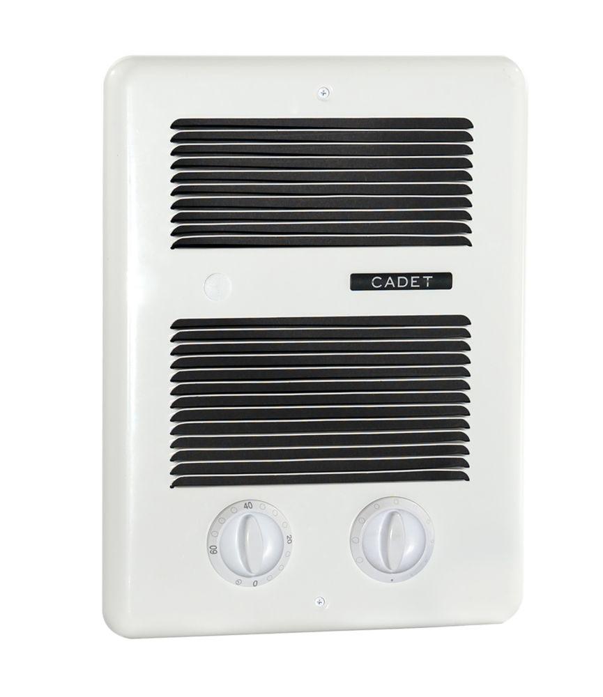 1500w 240v Fan Forced Wall Insert Electric Heater White
