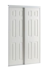 Veranda 48-inch White Framed 6-Panel Sliding Door | The ...