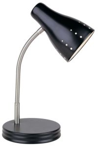 Hampton Bay 1-Light Touch Desk Lamp, Black Finish | The ...