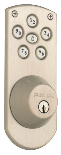 Home Depot Nickel Door Handles Weiser Weiser Powerbolt Deadbolt, Satin Nickel | The Home Depot Canada