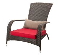 Patio Flare Wicker Muskoka Chair With Cushion | The Home ...