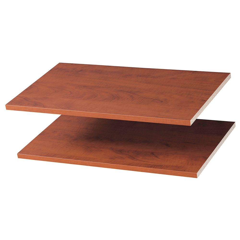 Living24 Möbel 24 Inches Shelves 2 Pack Cherry