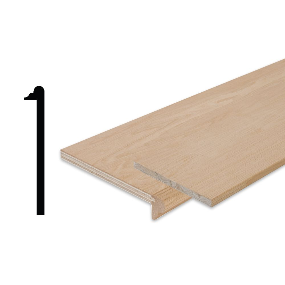 Simpletread Maple Stair Tread Cap And Riser Kit 10 1 8 In