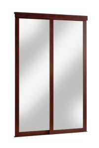 Veranda 48-inch Espresso Framed Mirrored Sliding Door ...