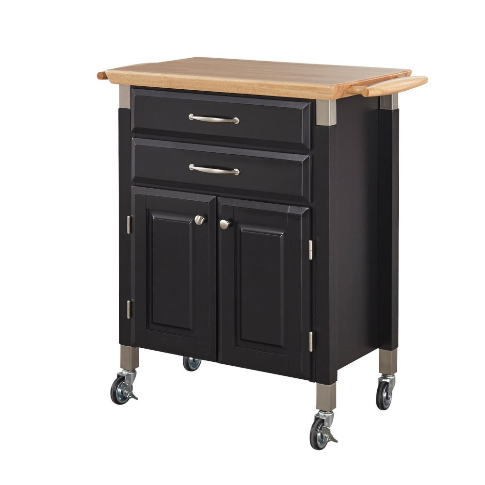 Nantucket Distressed White Finish Kitchen Island By Home Styles Kitchen Island & Carts | The Home Depot Canada