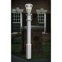 New England Arbors Sturbridge Lamp Post | The Home Depot ...