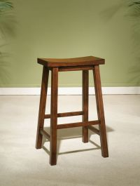 Powell Honey Brown Bar Stool, 29 Seat Height | The Home ...