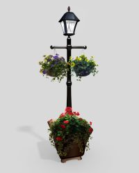 Solar Lamp Post with Planter - Bing images