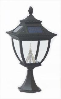 Gama Sonic Pagoda solar lamp, post mount | The Home Depot ...