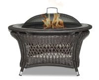 Paramount Rio 32-inch Patented Wicker Gel Fuel Outdoor ...