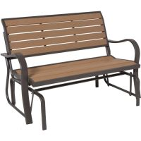 Lifetime Wood Alternative Outdoor Glider Bench | The Home ...