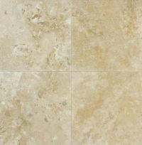 Ivory Travertine 6 in. x 6 in. Honed & Filled Travertine ...