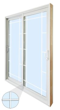 Stanley Doors 60-inch x 80-inch Double Sliding Patio Door ...