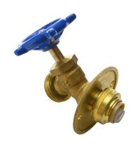 Brass Hose Bibb with Flange 1/2 Inch x 3/4 Inch Male Hose ...