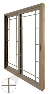 Stanley Doors Double Sliding Patio Door - Prairie Style ...