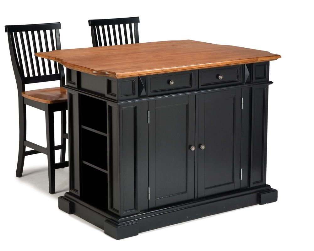 Island Stools Canada Kitchen Island With Two Stools Black