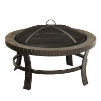 Pleasant Hearth 30-inch Slate-Top Wood Burning Outdoor ...