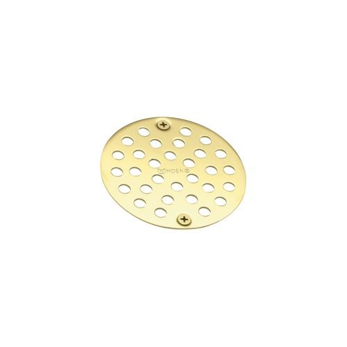 Moen Tub and Shower Drain Cover in Polished Brass