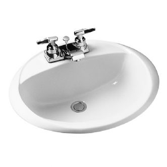 American Standard Crane Galaxy Oval Sink Basin In White