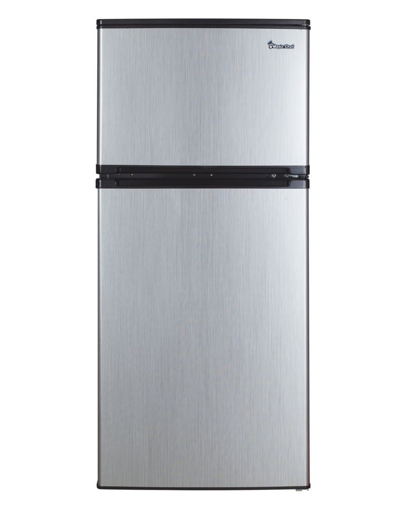 Small Freezer Canada 4 3 Cu Ft Compact Refrigerator With Stainless Steel Look Energy Star