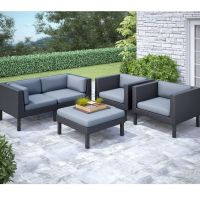 Corliving Oakland 5 Pc Sofa And Chair Patio Set | The Home ...
