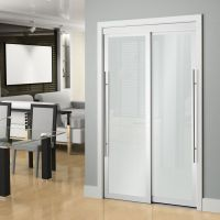 Veranda 72-inch White Framed 6-Panel Sliding Door | The ...