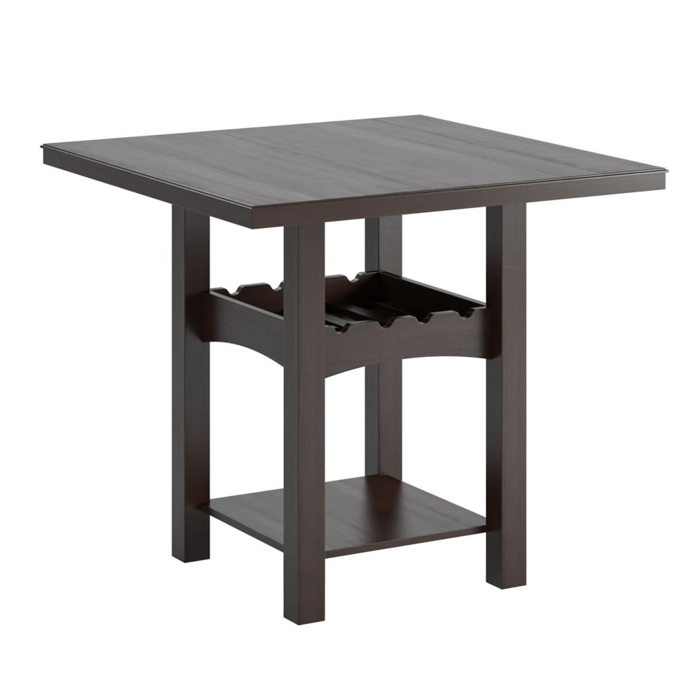 Corliving Bistro 36 Inch Counter Height Dark Cocoa Dining