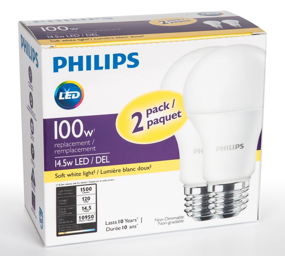 Ampoule E27 Led 100w Light Bulbs Led Edison Fluorescent More The Home Depot Canada