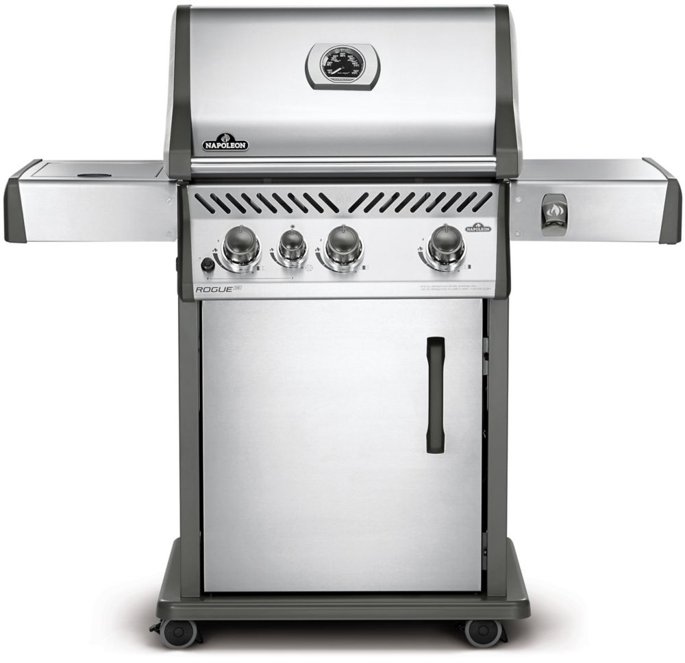 Napoleon Lex485rsib Propane Bbq Rogue Se 425 Propane Bbq With Range Side Burner In Stainless Steel