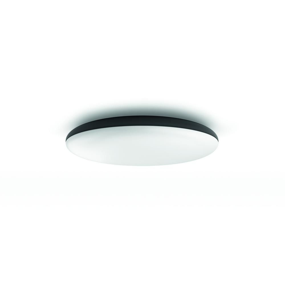Philips Lampen Plafond Philips Hue Cher Ceiling Lamp Flush Black The Home Depot Canada