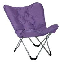 Sharper Image Plush Memory Foam Dorm Chair - Purple ...