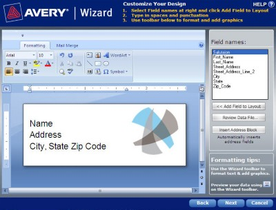 avery wizard download