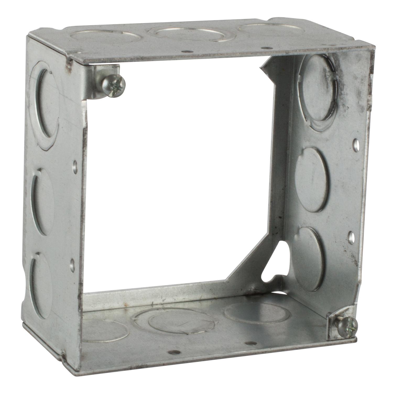 Steel City 531711234 4 in. Steel Square Box, 2