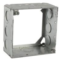 Steel City 531711234 4 in. Steel Square Box, 2-1/8 in ...