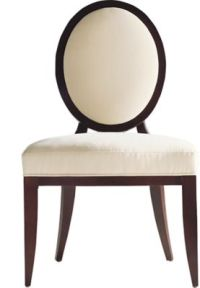 Oval X-Back Dining Side Chair by Barbara Barry - 3440 ...