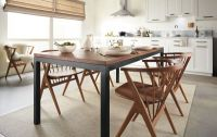 Parsons Dining Table with Soren Dining Chairs - Modern ...