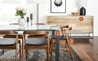 Rand Table with Jansen Chairs - Modern Dining Room ...
