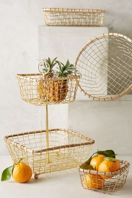 Wire Fruit Bowls Brushed Wire Fruit Bowl