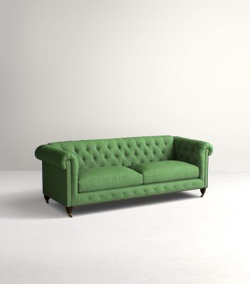 Sofa Couch Lyre Chesterfield Two Cushion Sofa