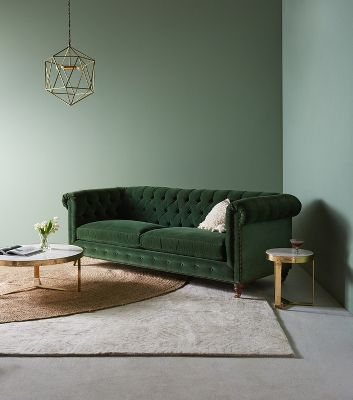 Sofa Couch Or Chesterfield Lyre Chesterfield Two Cushion Sofa