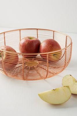 Wire Fruit Bowls Copper Wired Fruit Bowl